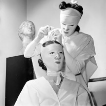 Vintage beauty masks